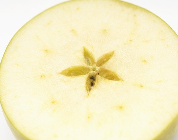 Cross section of granny smith apple
